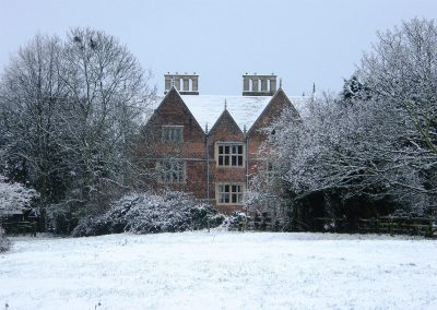 The Red Hall in winter
