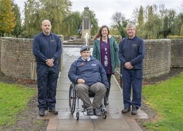 Bourne's war memorial made more accessible